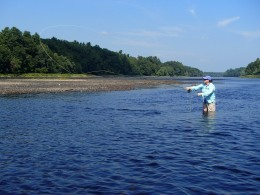 Guided fishing on the Kennebec River