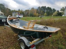 My latest drift boat ready for commissioning